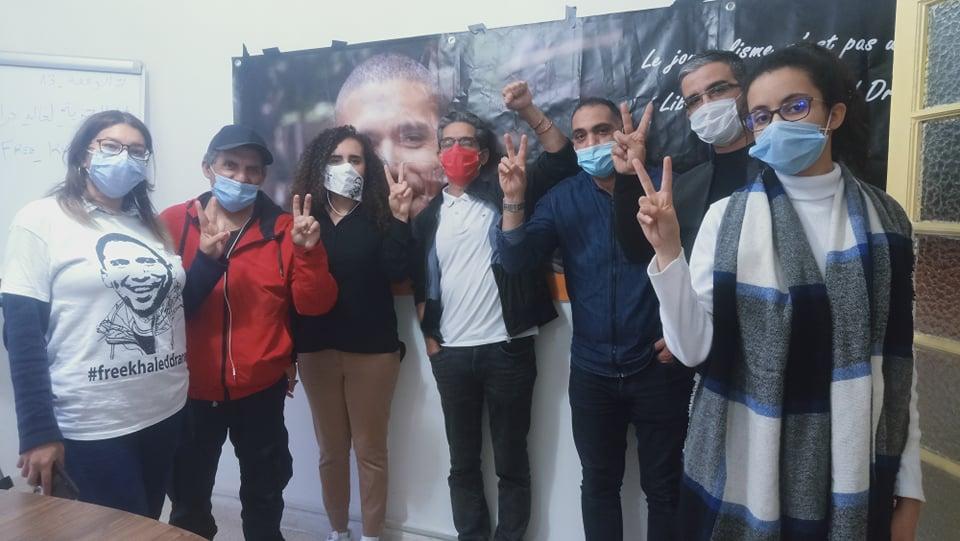 وقفة خالد درارني وسجناء الرأي تستمرّ رغم منعها في دار الصحافة