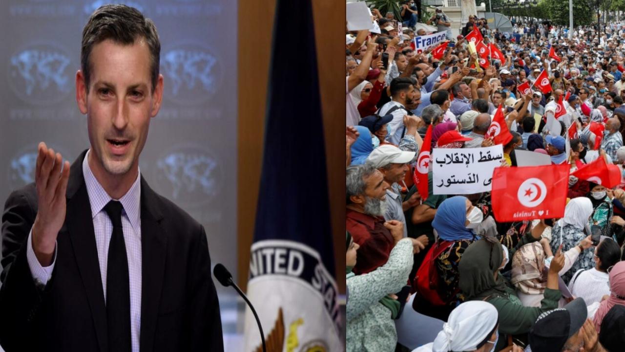 الخارجية الأمريكية تعرب عن «خيبة أملها» حول «تجاوزات» تحدثُ في تونس